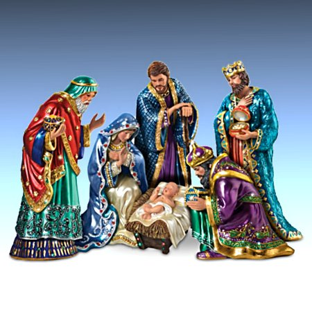 The Jeweled Nativity - Peter Carl Faberge-Inspired Figurine Collection